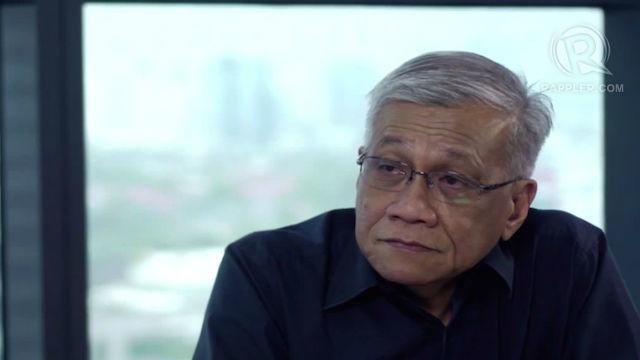 RESIGNED. Akbayan member Walden Bello criticizes President Aquino and resigns as party-list representative. Screengrab by Rappler
