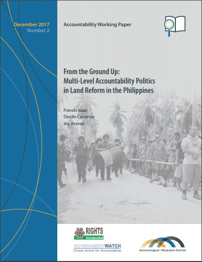 From the Ground Up: Multi-Level Accountability Politics in Land Reform in the Philippines cover