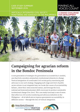 Campaigning for Agrarian Reform in the Bondoc Peninsula: Case Study Summary