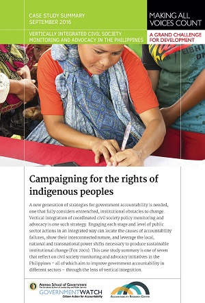 Campaigning for the Rights of Indigenous Peoples: Case Study Summary