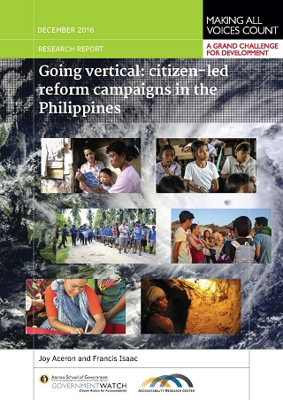 Going Vertical: Citizen-led Reform Campaigns in the Philippines