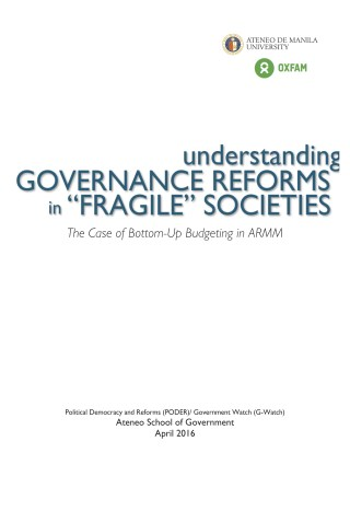 "Understanding Governance Reforms in ""Fragile"" Societies: The Case of Bottom-Up Budgeting in ARRM"