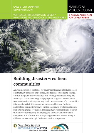 Building Disaster-resilient Communities: Case Study Summary