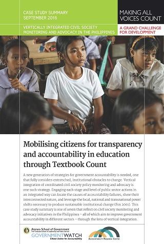 Mobilising Citizens for Transparency and Accountability in Education through Textbook Count: Case Study Summary