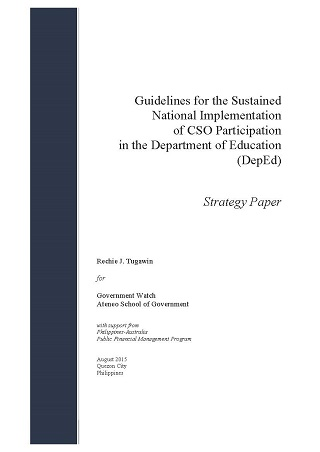 Guidelines for the Sustained National Implementation of CSO Participation in the Department of Education (DepEd)