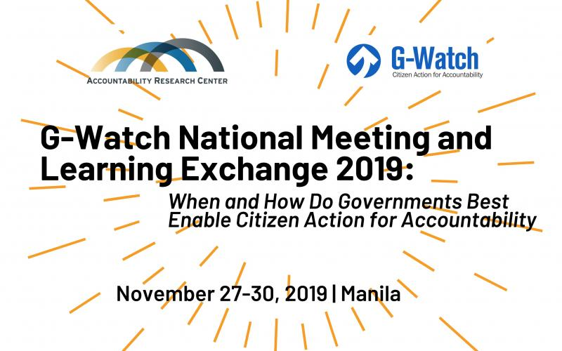G-Watch 2019 National Meeting and Learning Exchange