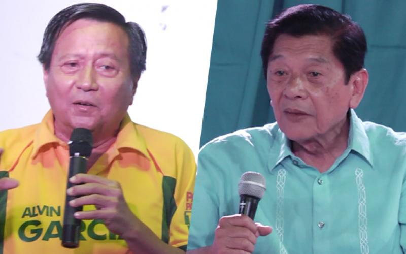 FRIENDS, RIVALS. Former Cebu City mayor Alvin Garcia and incumbent North Cebu district representative Raul del Mar give their take on how legislation can help solve local issues. Photo by Rappler